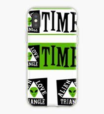 Alien Love Triangle Times Sticker Pack iPhone Case