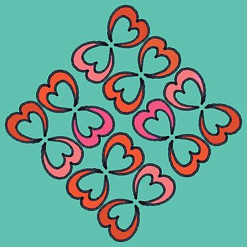 My heart is hooked and turquoise by PlacewearDesign