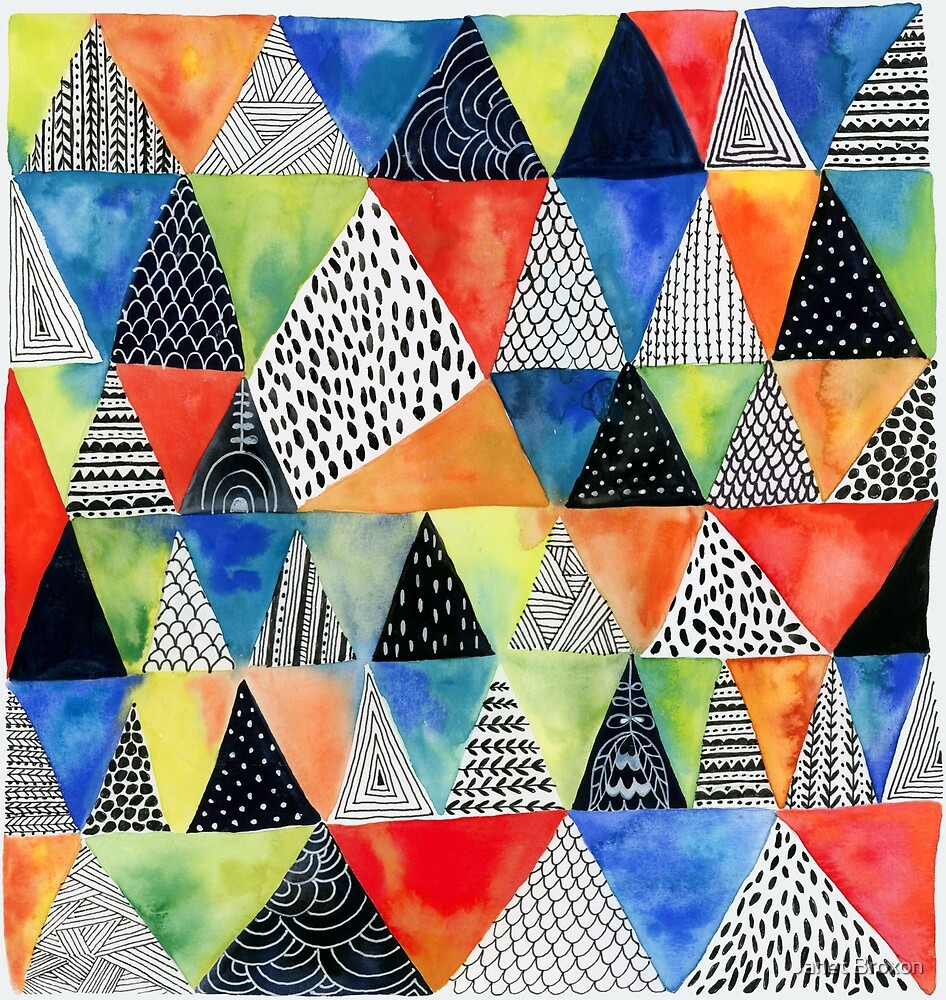 Doodled Geometry by Janet Broxon