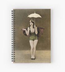 Victorian Circus Performer Spiral Notebook