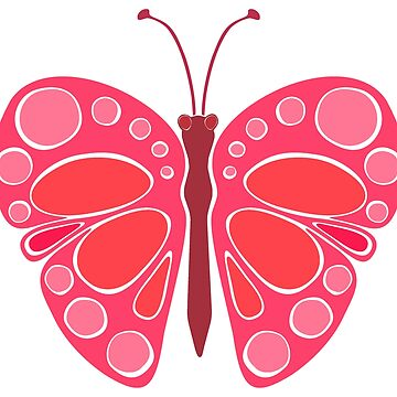 Cherry Pink 60s Butterfly by JaZilla