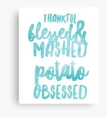 Thanksgiving Tee Thankful Blessed Gift Canvas Print