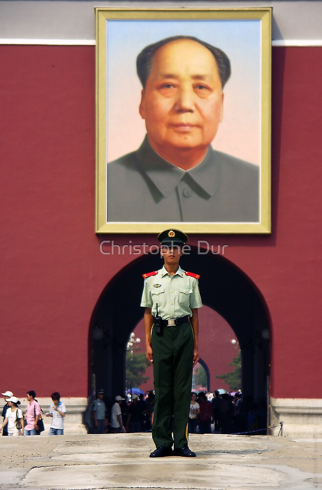 Mao portrait - China by Christophe Dur