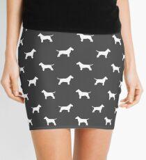 Bull Terrier Silhouette(s) Mini Skirt