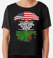 Geschenk für Sambian Amerikaner gewachsen mit Sambiawurzeln Sambia-T-Shirt StrickjackeHoodie Iphone Samsung Telefon-Kasten Kaffeetasse-Tabletten-Kasten-Geschenk Chiffontop