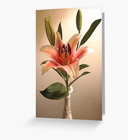 Lily in a Vase Greeting Card