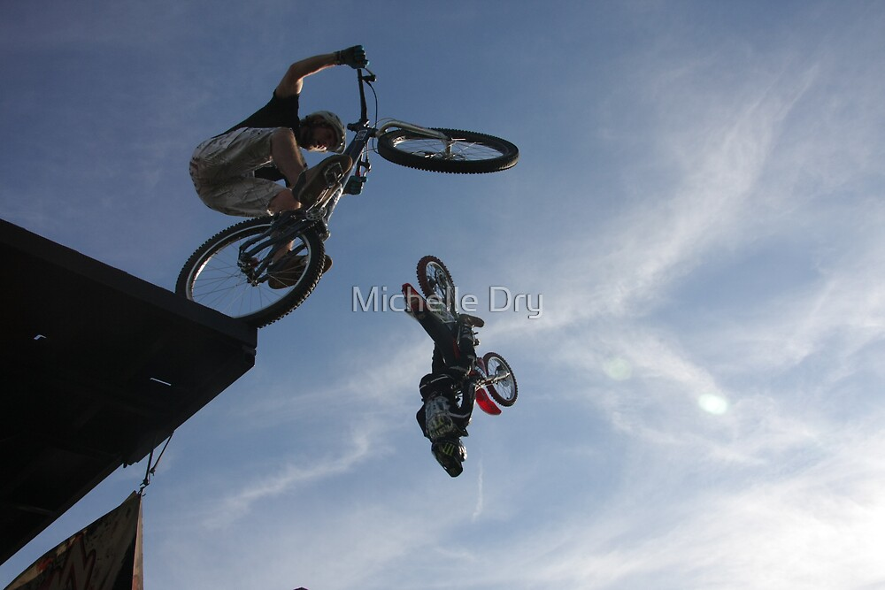 Andre and Preston pulling some major air at Whiteair. by Michelle Dry