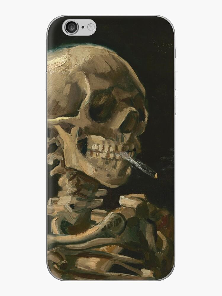 «Cráneo de un esqueleto con cigarrillo encendido» de warishellstore