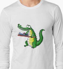 Cute Cartoon Croc0dile Long Sleeve T-Shirt