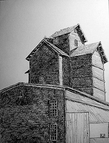 Grain Mill in day by K. A.  Cooper