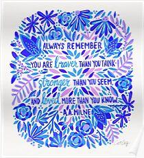 Always Remember – Indigo Palette Poster