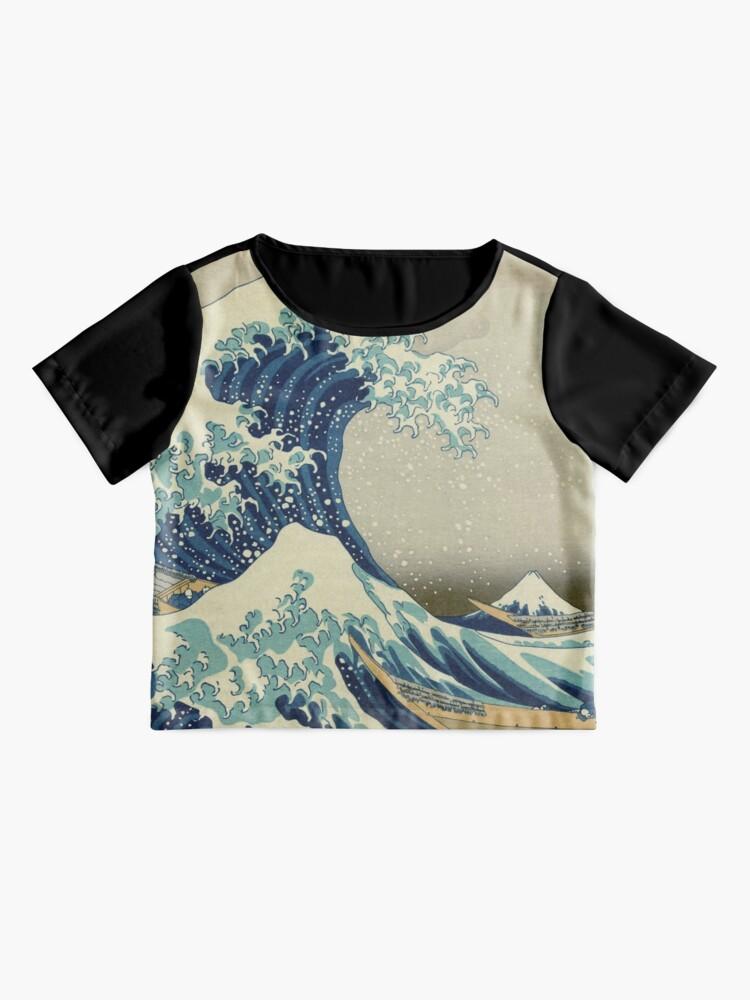 Alternative Ansicht von Die große Welle vor Kanagawa Chiffontop