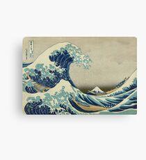 Lienzo La gran ola de Kanagawa