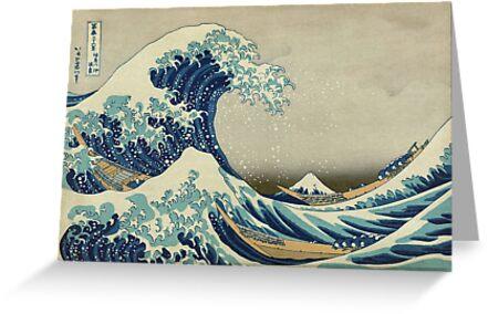 Die große Welle vor Kanagawa von warishellstore