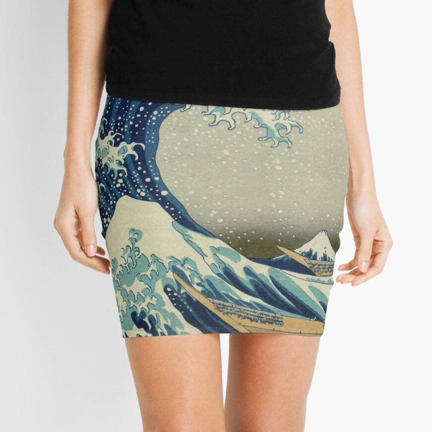 Die große Welle vor Kanagawa Minirock