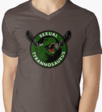 Sexual Tyrannosaurus Men's V-Neck T-Shirt