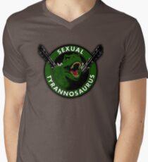 Sexual Tyrannosaurus Men's V-Neck T-Shirt