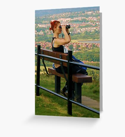 I can see my house from here ! Greeting Card