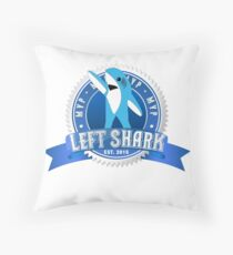 Left Shark MVP - Super Bowl Halftime Shark 2015 Throw Pillow