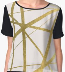 Pink and Gold Geometric Luxe Women's Chiffon Top
