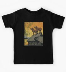 Vintage Travel Poster, Aged and Weathered - National Parks America USA  Kids Clothes