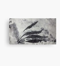 Zen Leaves Canvas Print
