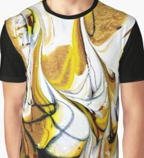 Gold Flame Swirl Graphic T-Shirt