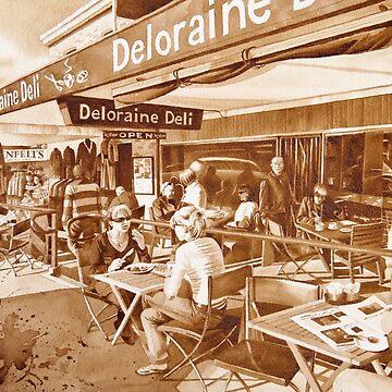 Cafe Scene by FrancoisArt