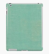 Light / Faded Turquoise Linen Material Texture iPad Case/Skin