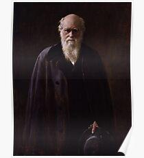 Póster Charles Darwin Painting