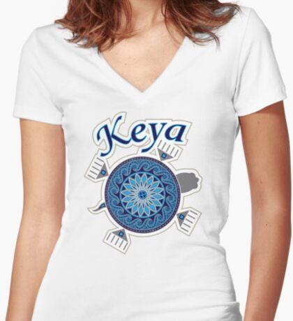 Turtle Keya Women's Fitted V-Neck T-Shirt