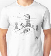 Arctic Base Line Art T-Shirt