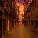 Back Street in Venice by Nigel Donald