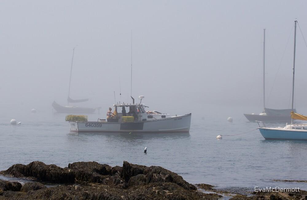 Lobster Boat in the Fog by EvaMcDermott