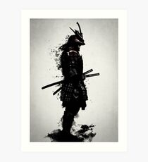 Armored Samurai Art Print