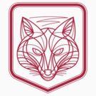 Fox Head Crest Monoline by patrimonio