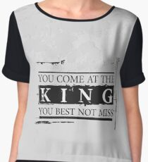 """You Come at the King, You Best Not Miss"" - The Wire (Dark) Women's Chiffon Top"