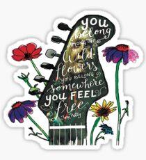 Tom Petty Flower Guitar Sticker