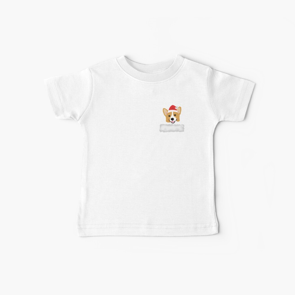 Corgi In Your Front Pocket Funny Christmas Costume Baby T-Shirt