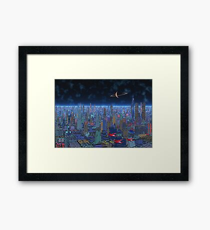 Night Patrol - Titan City Framed Print