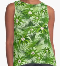 Tropical leaves and flowers Contrast Tank