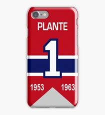 Jacques Plante - retired jersey #1 iPhone Case/Skin