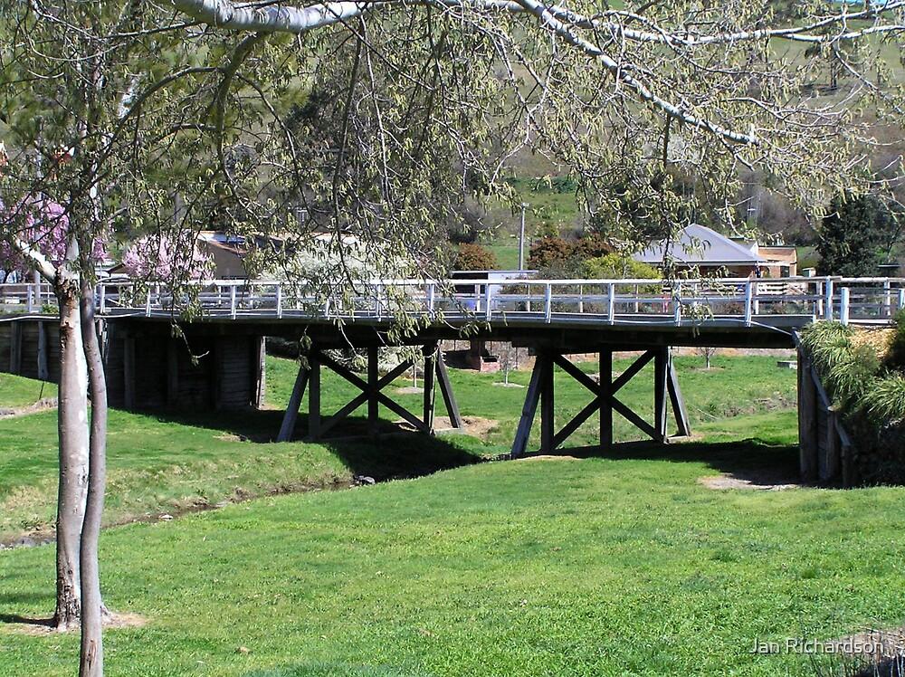 Wooden Road Bridge, Carcoar, NSW by Jan Richardson