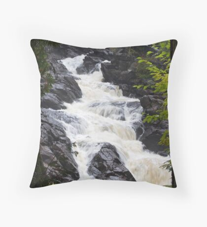 Ragged Fall - Oxtongue river Throw Pillow
