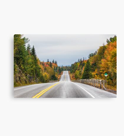 Algonquin park on Highway 60 in Autumn Canvas Print