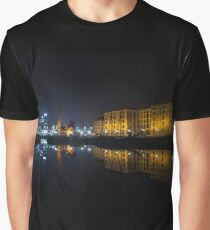 Canning Dock At Night Graphic T-Shirt