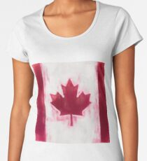 Maple Leaf Flag Reworked No. 1, Series 1 Women's Premium T-Shirt