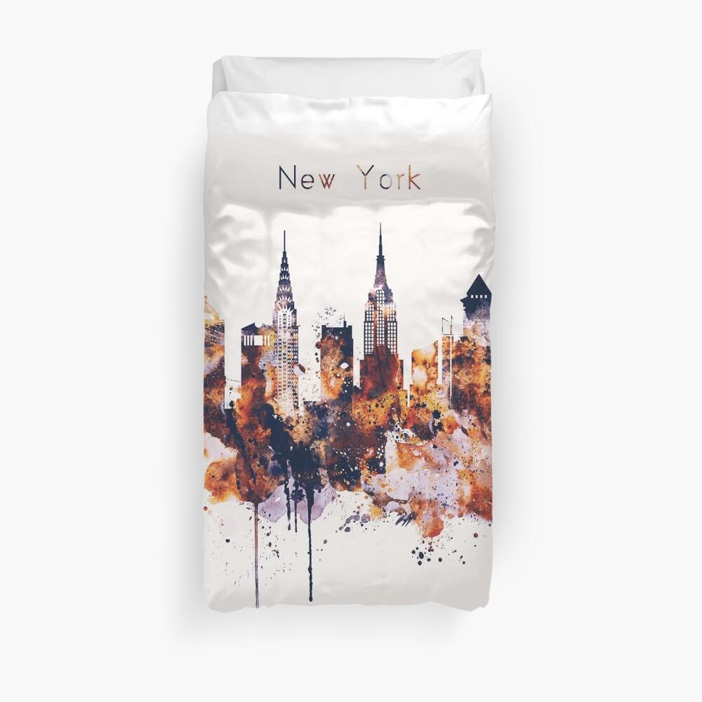 NYC New York Skyline Poster Lámina Funda nórdica