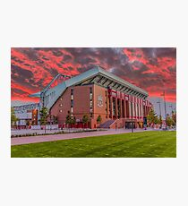 Red Sky Over Anfield Photographic Print