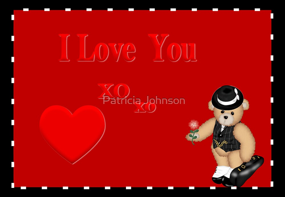 I Love You Greeting Card by Patricia Johnson